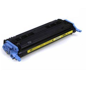 Cartuş / toner încărcat 100% HP Laserjet 2600 (Q6002A-galben)
