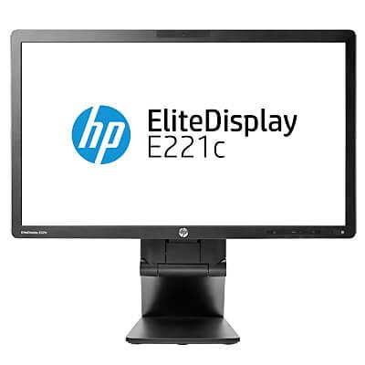 Monitoare LED HP EliteDisplay E221c, 21.5 inch, IPS, FHD, webcam si microfon, boxe, Grad A