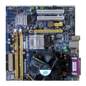 Kit placă de bază Socket 775 + procesor Core2Duo E8200 2.66GHz