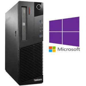 Calculatoare Refurbished Lenovo M83 DT Core i3-4130, 8gb ddr3, 500GB, Windows 10 Pro